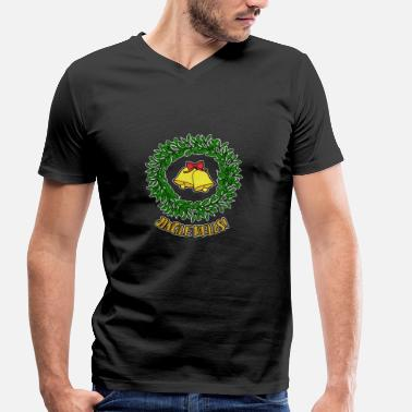 Jingle Bells jingle bells - Mannen bio T-shirt met V-hals van Stanley & Stella