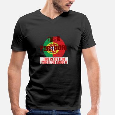 Portuguese This is my flag - Men's Organic V-Neck T-Shirt by Stanley & Stella