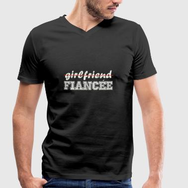 Girlfriend Fiancee - Men's Organic V-Neck T-Shirt by Stanley & Stella