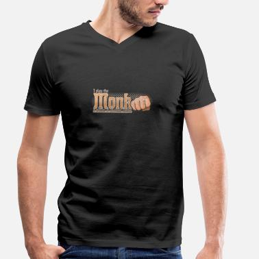 Dnd Monk Monk Tabletop Class Pen and Paper DnD - Men's Organic V-Neck T-Shirt by Stanley & Stella