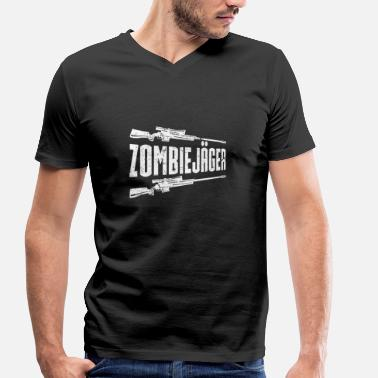 Zombie Hunter Zombie hunter - Men's Organic V-Neck T-Shirt by Stanley & Stella