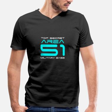 Ufo Area 51 Area 51 - Men's Organic V-Neck T-Shirt by Stanley & Stella
