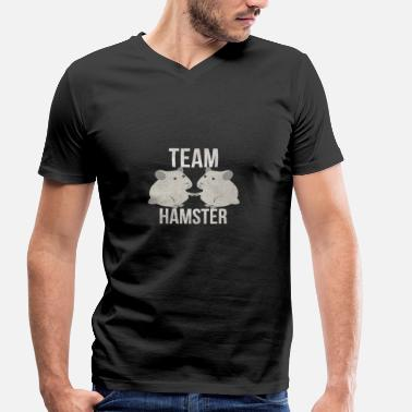 Team Hamster Team Hamster I hamster girl child boy - Men's Organic V-Neck T-Shirt by Stanley & Stella