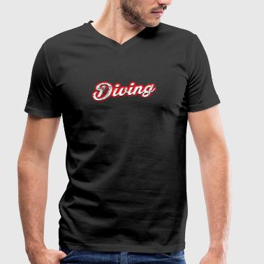 diving - vintage & distressed - Men's Organic V-Neck T-Shirt by Stanley & Stella