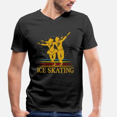 Skate Sport Skating Ice sports Ice skating Ice skating - Men's Organic V-Neck T-Shirt by Stanley & Stella