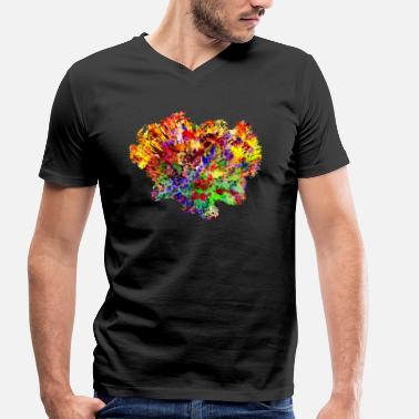 Cz Colorful Abstract Art Design Gift Cz - Men's Organic V-Neck T-Shirt by Stanley & Stella