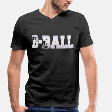 B Ball B BALL basketball - Men's Organic V-Neck T-Shirt by Stanley & Stella