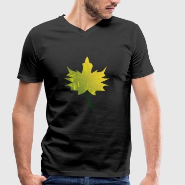 Maple leaf - maple in autumn - Men's Organic V-Neck T-Shirt by Stanley & Stella