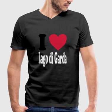 I love Lago di Garda (All Colors!) - Men's Organic V-Neck T-Shirt by Stanley & Stella