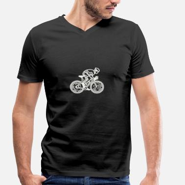 Kids Bike Bike - Bike - Men's Organic V-Neck T-Shirt by Stanley & Stella