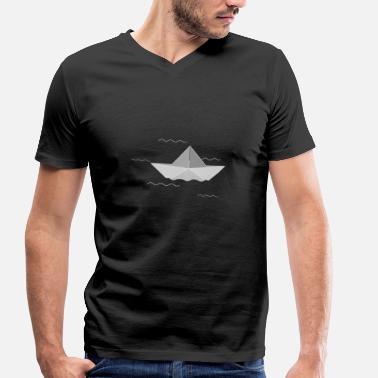 Barca Di Carta Barca di carta - Maglietta con scollo a V uomo dd674cac7188