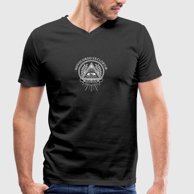 Pyramid Illuminati conspiracy eye pyramid secret - Men's Organic V-Neck T-Shirt by Stanley & Stella
