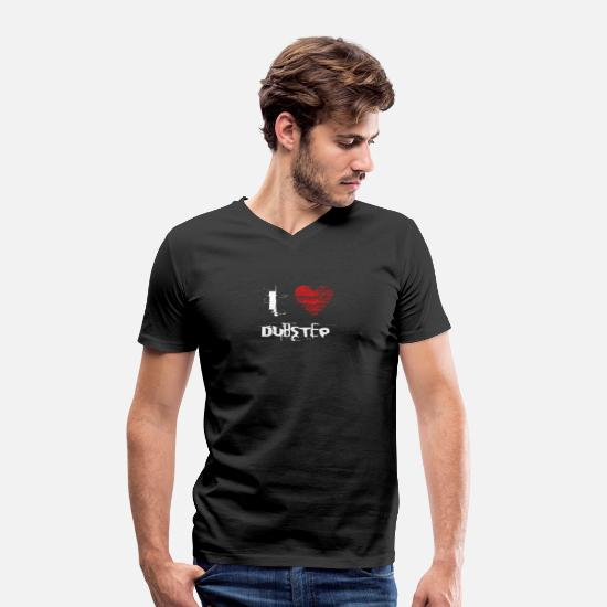 Love T-Shirts - I love minimal techno dubstep raver - Men's Organic V-Neck T-Shirt black