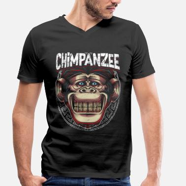 Chimpanzees chimpanzee - Men's Organic V-Neck T-Shirt by Stanley & Stella
