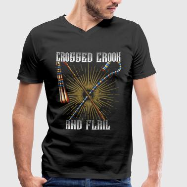 Crooked Crook and flagellum - Men's Organic V-Neck T-Shirt by Stanley & Stella