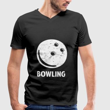 Bowling Alley Bowling bowler bowling alley gift - Men's Organic V-Neck T-Shirt by Stanley & Stella
