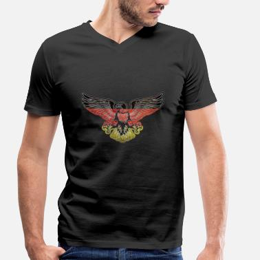 Fall Of The Berlin Wall Germany Adler Berlin - Men's Organic V-Neck T-Shirt by Stanley & Stella