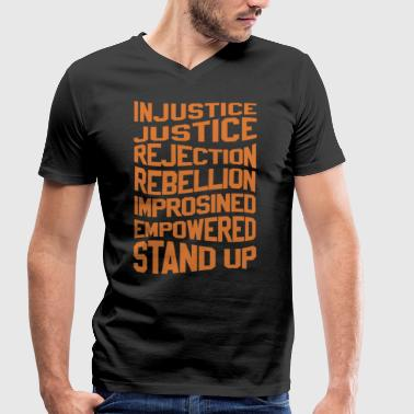 Injustice INJUSTICE SHIRT - Men's Organic V-Neck T-Shirt by Stanley & Stella