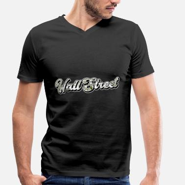 Wallstreet Wallstreet cash money dollars - Men's Organic V-Neck T-Shirt by Stanley & Stella