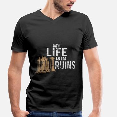 Ruin ruins - Men's Organic V-Neck T-Shirt by Stanley & Stella