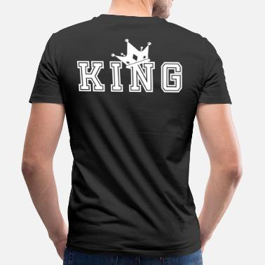 King Queen Valentine's Matching Couples King Crown Jersey - Miesten v-aukkoinen t-paita