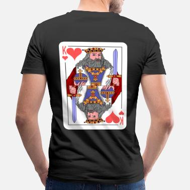 Gioco Idea regalo King Playing Card - T-shirt ecologica da uomo con scollo a V di Stanley & Stella