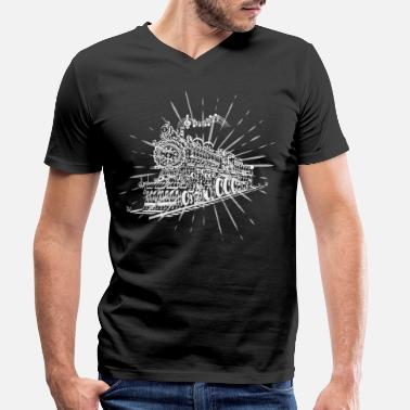 Trein Machinist Music Train - Choir Conductor Conductor - Mannen bio T-shirt met V-hals van Stanley & Stella