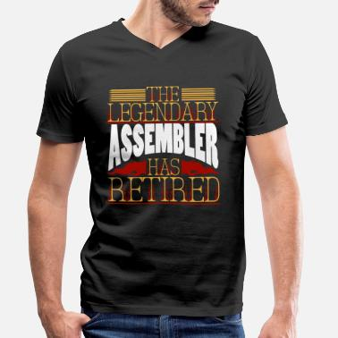 Assembled assembler - Men's Organic V-Neck T-Shirt