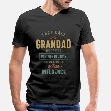 Grandad They Call Me Grandad T-Shirt Gifts Father's Day - Men's Organic V-Neck T-Shirt