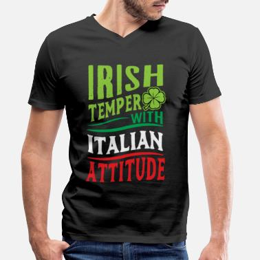Italian Italy country boots holiday pizza spaghetti flag - Men's Organic V-Neck T-Shirt