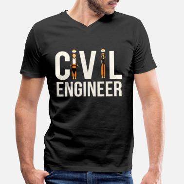 Engineering Student Or Cool Civil Engineer Engineering Student or Civil E - Men's Organic V-Neck T-Shirt