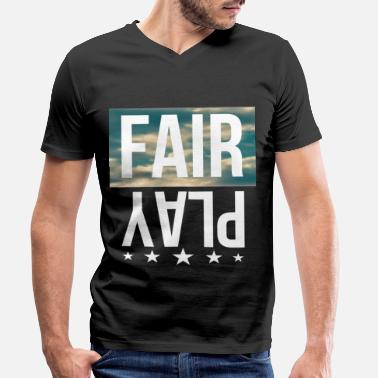 Fair fair play - Men's Organic V-Neck T-Shirt