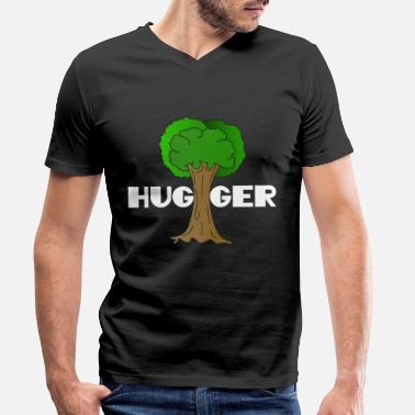 Ecofriendly Beautiful Nature Tree Tshirt Design Hugger Tree - Men's Organic V-Neck T-Shirt