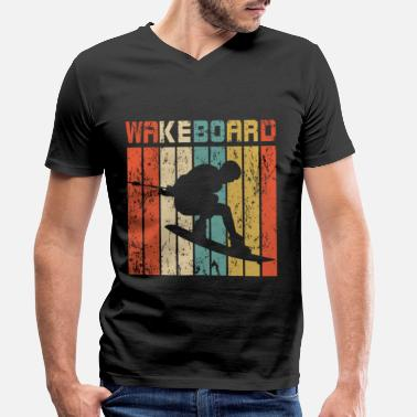 Fitness Wakeboard retro gift - Men's Organic V-Neck T-Shirt