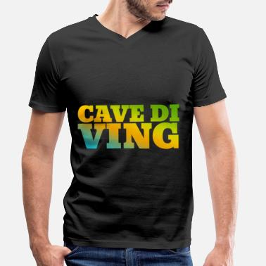 Bright Cave Diving Hobby in bright colors - Men's Organic V-Neck T-Shirt