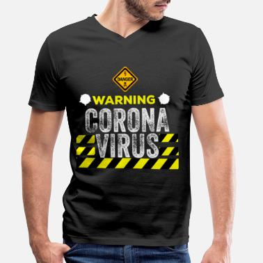 Age Corona Virus Alert birthday gift idea - Men's Organic V-Neck T-Shirt