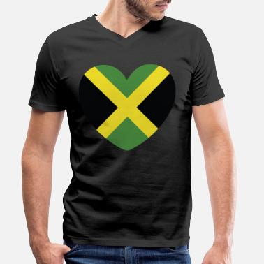 Jamaican Creole COOL JAMAICA FLAG DESIGN - Men's Organic V-Neck T-Shirt
