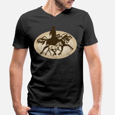Western Riding Western riding - Men's Organic V-Neck T-Shirt