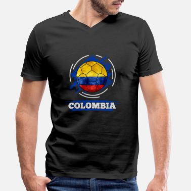 Drapeau de pays Colombie   Colombie - T-shirt bio col V Homme da84bd3a0c5