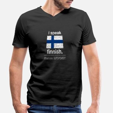 Whats Your Superpower Finland .. what is your superpower - Men's Organic V-Neck T-Shirt by Stanley & Stella