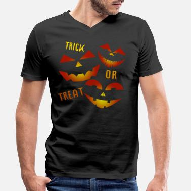 Trick Or Treat Trick or Treat Trick ou friandise - T-shirt bio col V Homme
