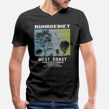 Ruhr Area Ruhr area westcoast - Men's Organic V-Neck T-Shirt by Stanley & Stella