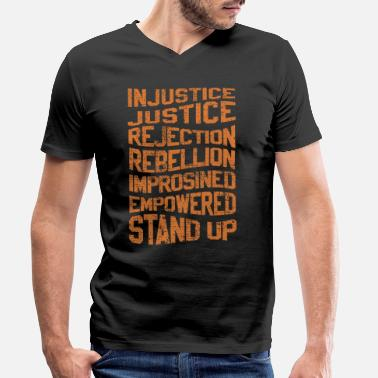 Injustice INJUSTICE REBELLION EMPOWERED - Men's Organic V-Neck T-Shirt