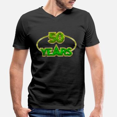 50 Years 50 Years - 50 years - Men's Organic V-Neck T-Shirt