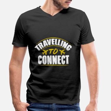 Connector Resa till Connect - T-shirt med V-ringning herr