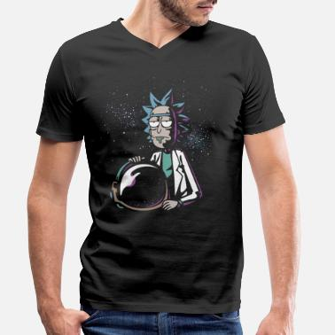 Rick and Morty Astronaut Helmet - T-shirt med V-ringning herr