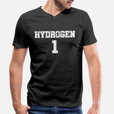 Waterstof Element waterstof - Mannen V-hals bio T-shirt