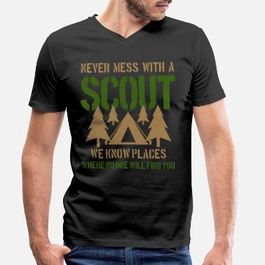 Scout Scout camping - Mannen V-hals bio T-shirt