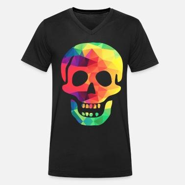 Calavera de colores Camiseta premium hombre  868c0a6bc3eb0