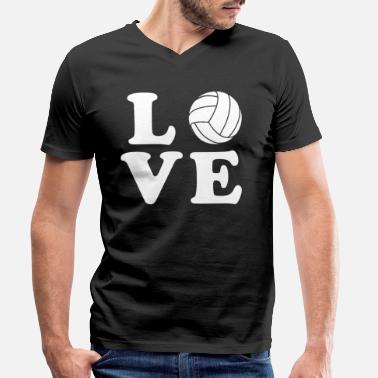 Volleyball Volleyball volleyballer play gift - Camiseta ecológica hombre con cuello de pico de Stanley & Stella